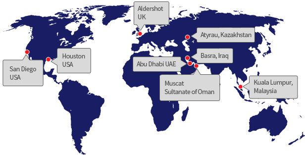 We have offices worldwide, including the UK, UAE, and Oman